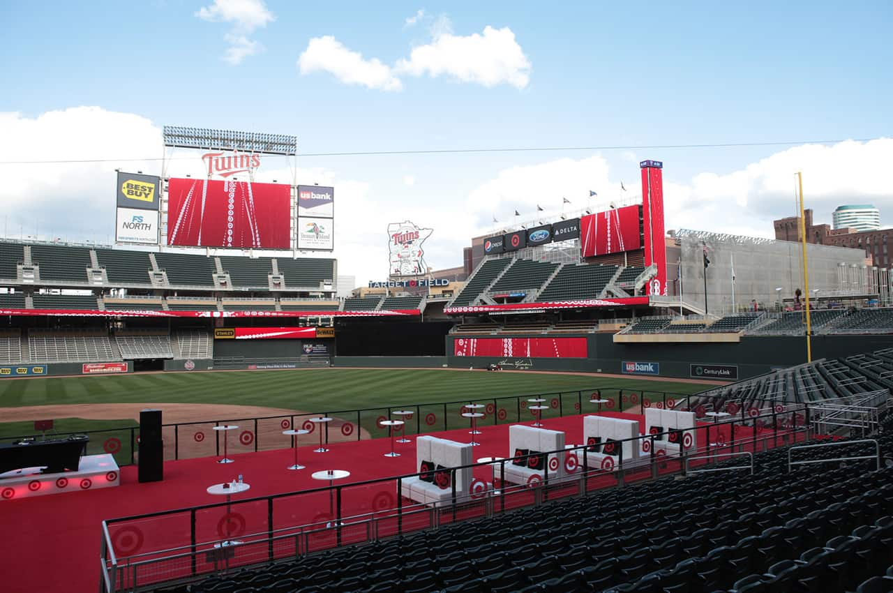 hosting client events at sports venues and big-time stadiums