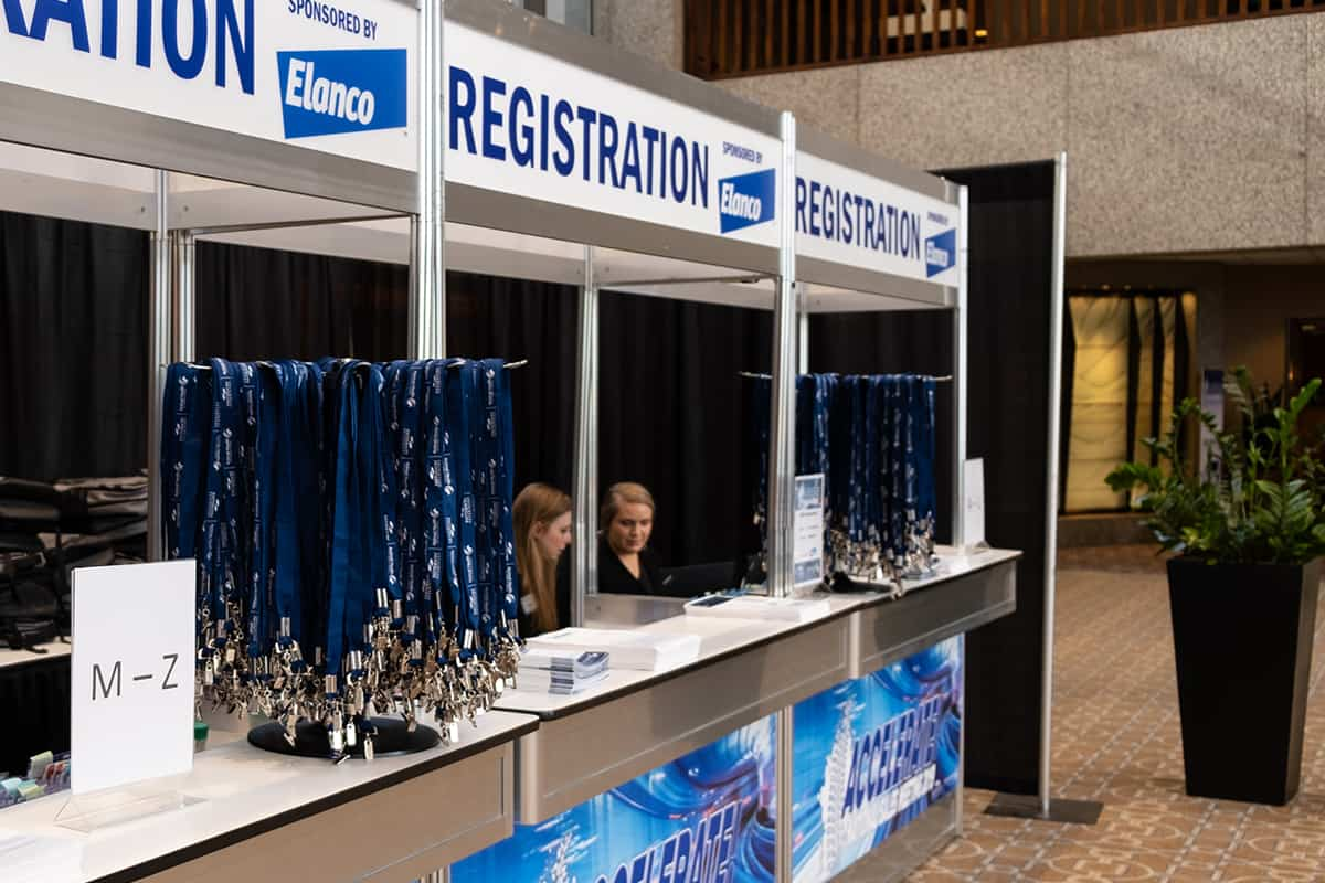 outsourcing attendee management - conference registration desk