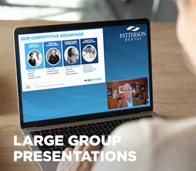 virtual meeting large group presentations