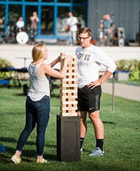Outdoor Events Reconnect Teams jenga
